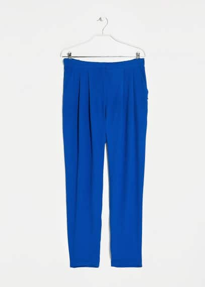 Crepe baggy trousers