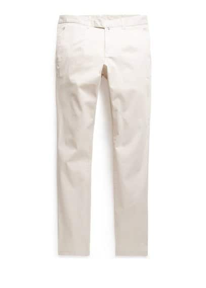 Slim-fit pleated chinos