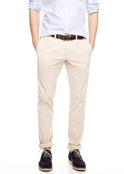 Geplooide slim-fit chino