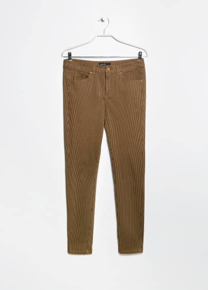 Gestreifte Slim Fit Hose