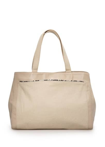 Bolso shopper ribete