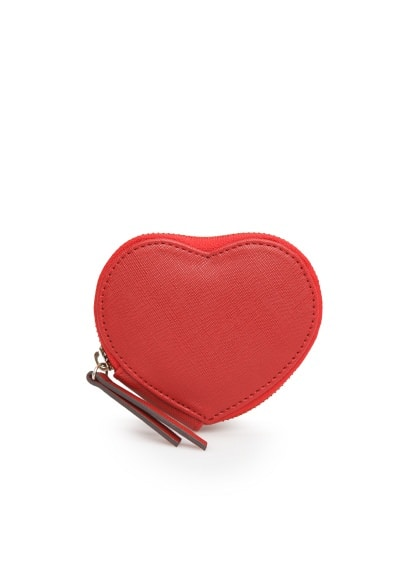 Heart saffiano purse