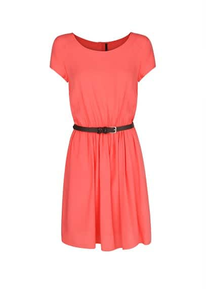 Bow belt dress