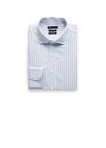 Classic-fit Premium striped twill shirt