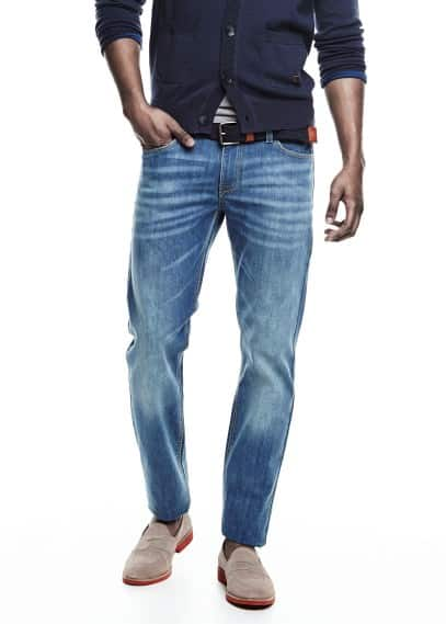 Alex slim-fit jeans met vintage wassing