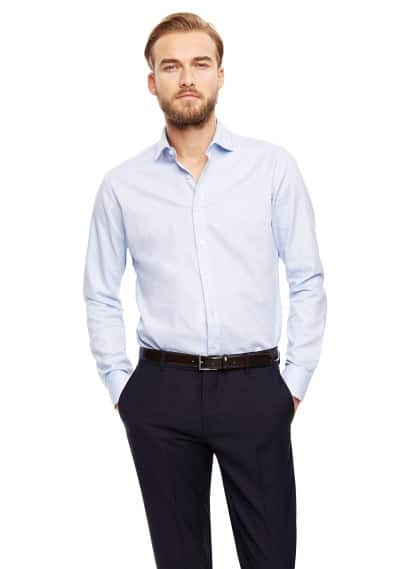 Slim Fit Baumwollhemd