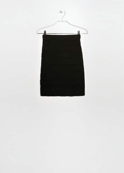 Stripe texture skirt