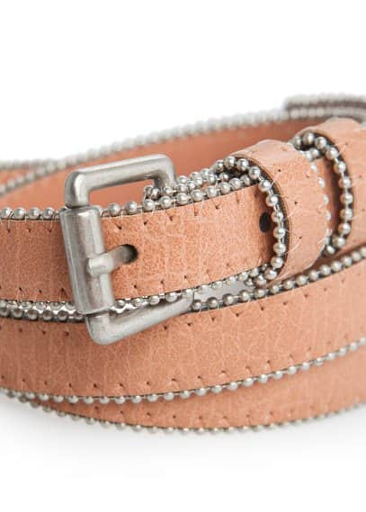 Ball chain skinny belt