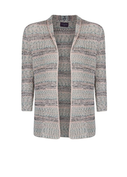 Metal thread cardigan