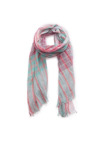 Foulard carreaux multicolore