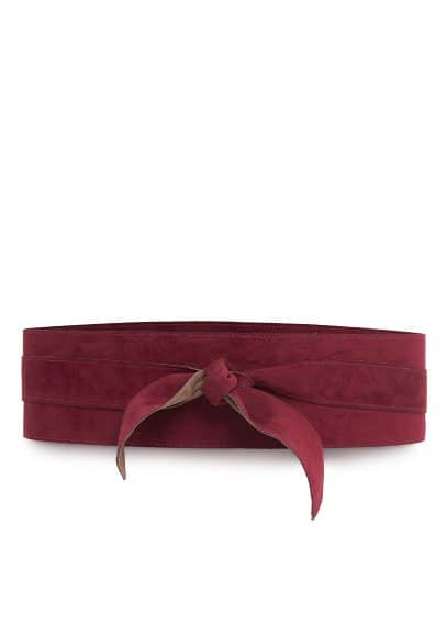 Reversible suede obi belt