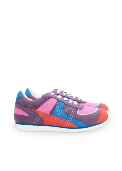 Multicolor lace-up sneakers