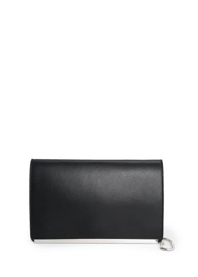 Rectangular leather clutch