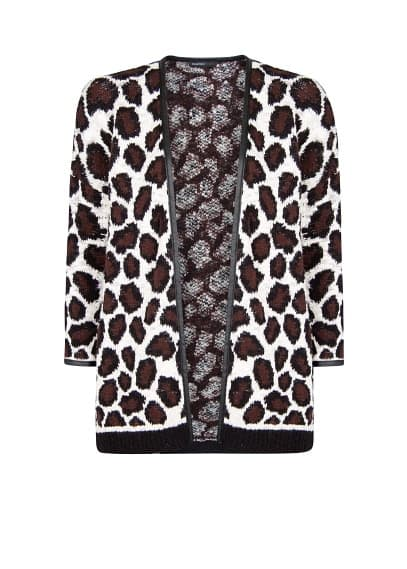 Cardigan jacquard animal