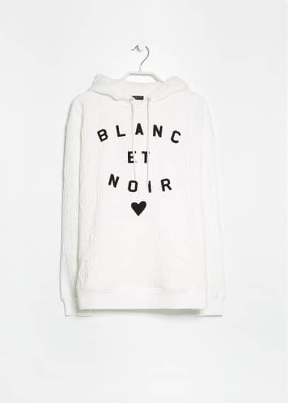 Sweat-shirt texturé