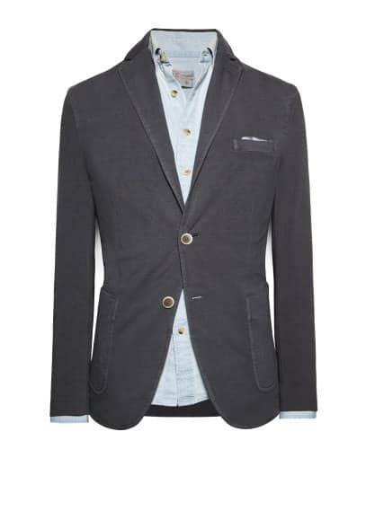 Washed jersey blazer