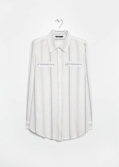 Striped textured shirt