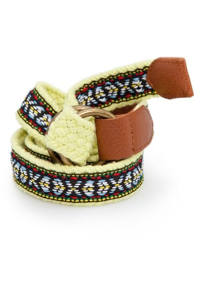 Braided ethnic belt