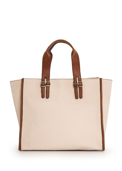 Herringbone shopper bag