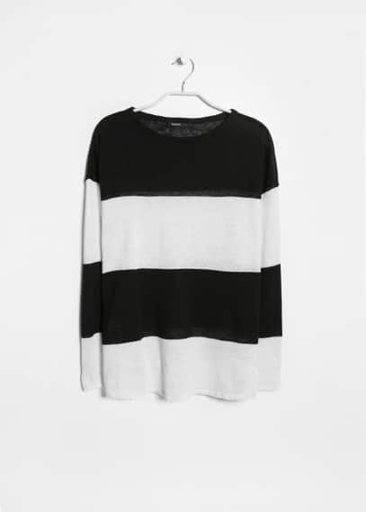 Linen striped sweater