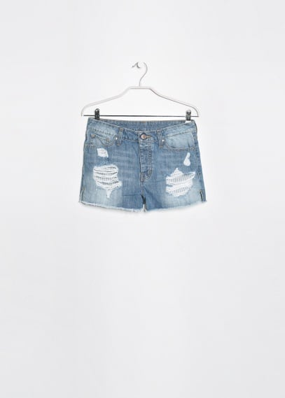 Short denim clair