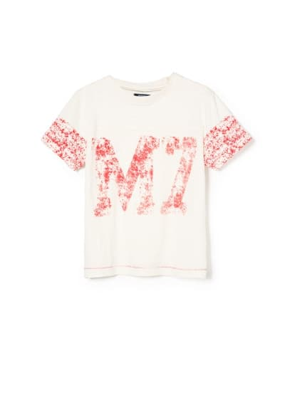 Distressed print t-shirt