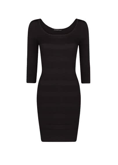 Stripe texture bodycon dress