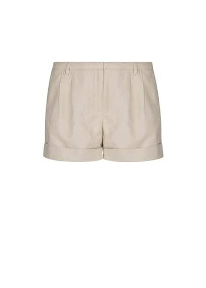 Linen cotton-blend shorts