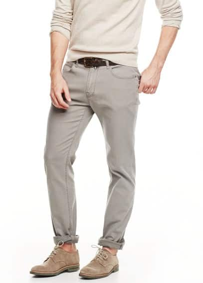 Slim Fit Baumwollhose