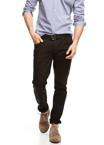 Schwarze Slim Fit Jeans Tim