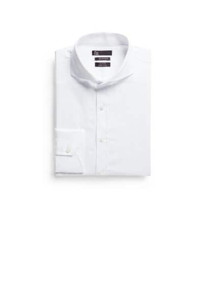 Slim-fit Premium herringbone shirt