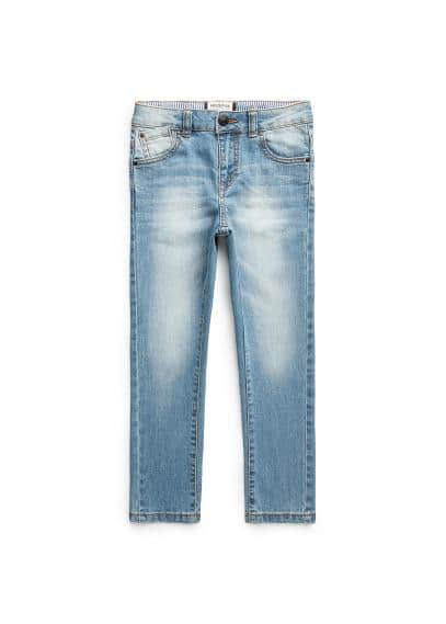 Slim-fit medium wash jeans