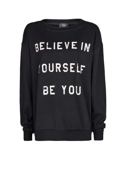 Sweat-shirt coton message imprimé