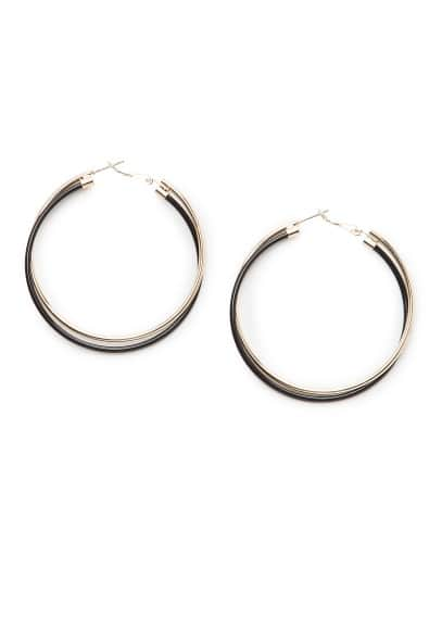 Twin interwoven hoop earrings
