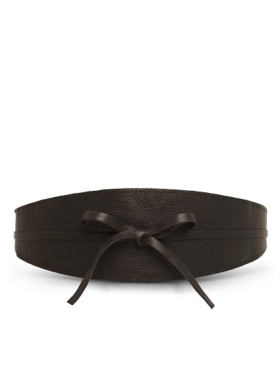 Leather obi belt