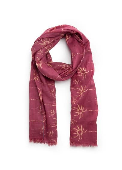 Palm print cotton scarf