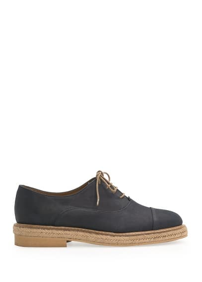 Zapato oxford nobuk esparto