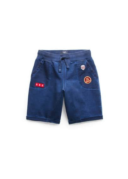 Patch jogging bermuda shorts