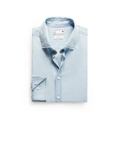 Koszula slim-fit chambray