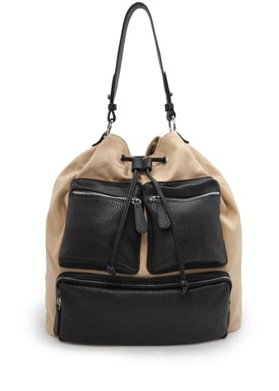 Multipocket bucket bag