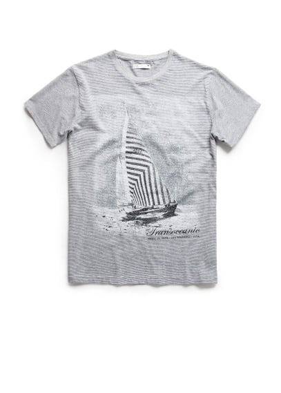 Transoceanic striped t-shirt