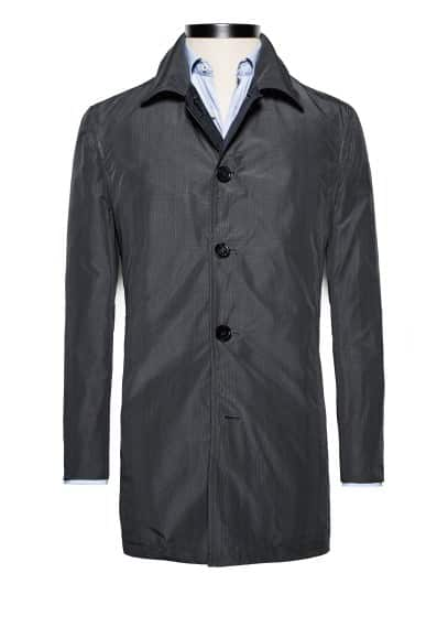 Premium reversible trench coat