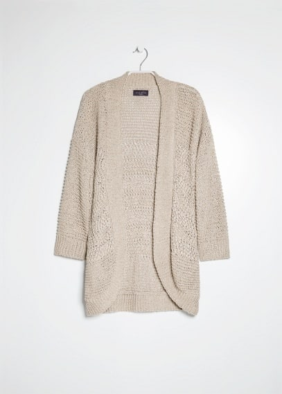 Metallic detail cardigan