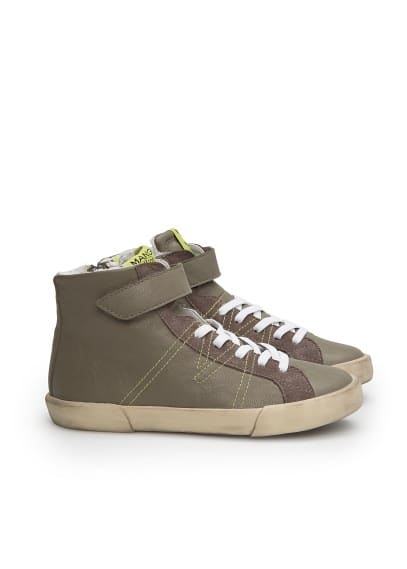 Velcro high top sneakers
