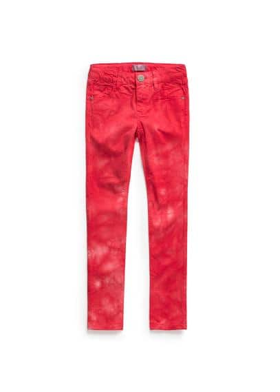 Tie-dye denim trousers