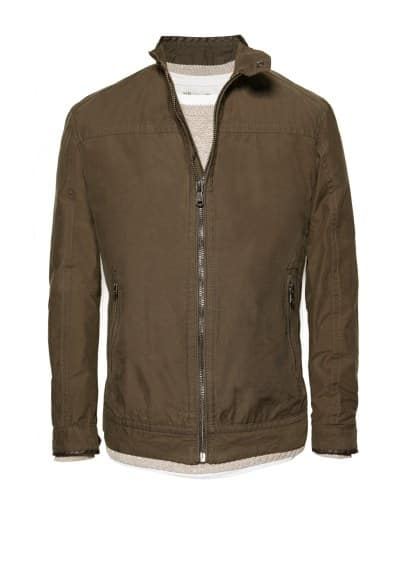Trim cotton jacket