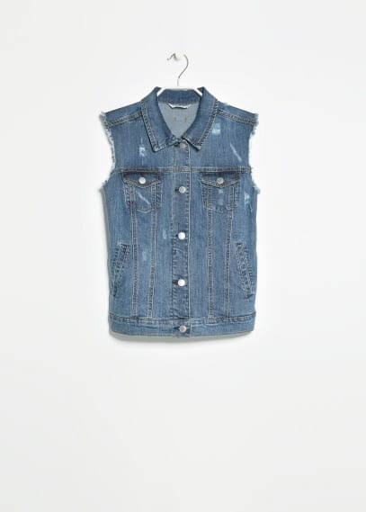 Gilet denim medio