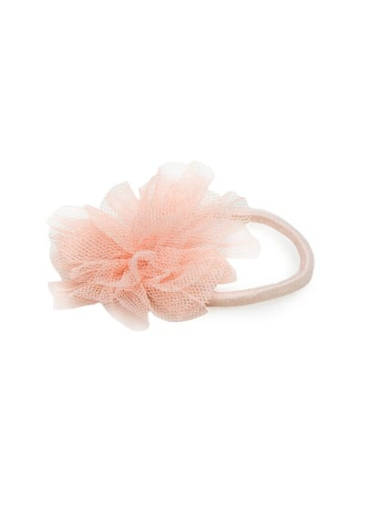 Flower hair tie