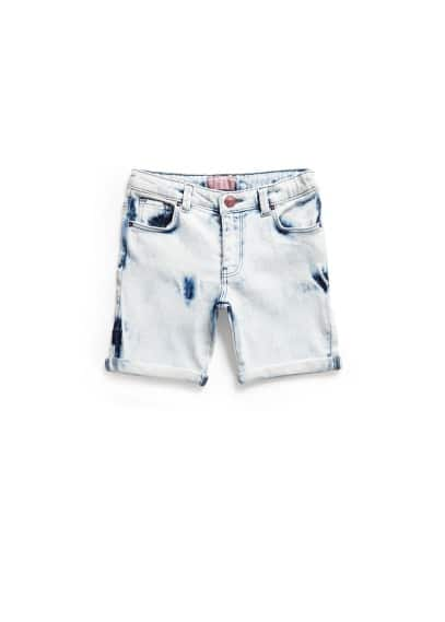 Short denim bleached