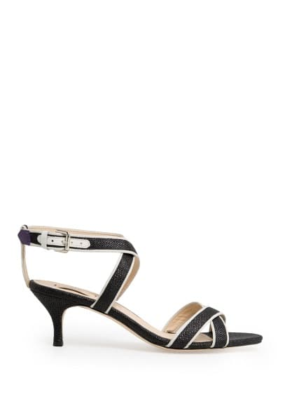 Fabric crisscross sandals